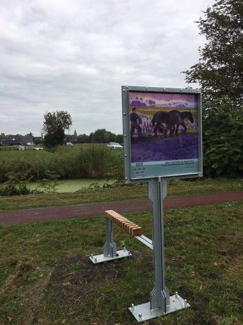 Replica van schilderij De Egger van Jan Altink, in kader van de Groninger Ploeg Hotspots